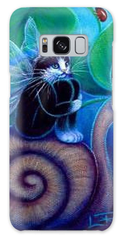 Whimsy Galaxy Case featuring the painting Slow Ride Through Life by L Risor