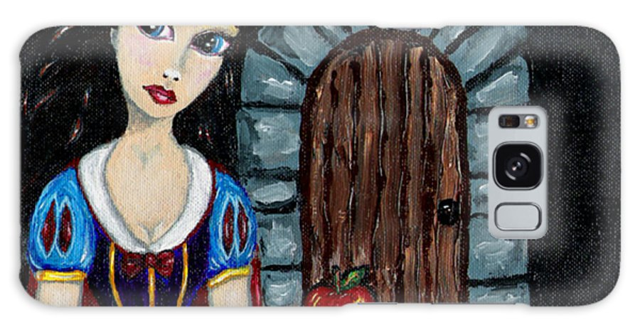 Fairy Tale Galaxy S8 Case featuring the painting Snow White Considers The Apple by Bronwen Skye