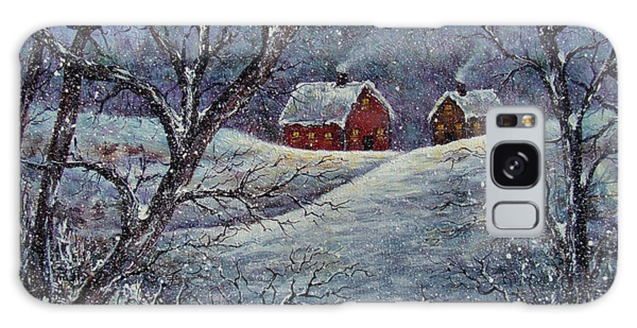 Landscape Galaxy S8 Case featuring the painting Snowy Day by Natalie Holland