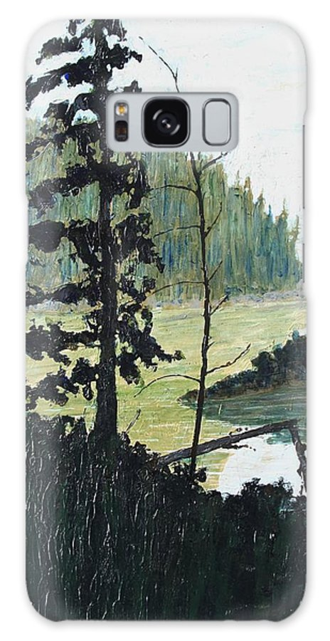 Sudbury Galaxy S8 Case featuring the painting South of Sudbury by Ian MacDonald