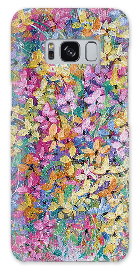 Flowers Galaxy S8 Case featuring the painting Spring floral bouquet. by Natalie Holland