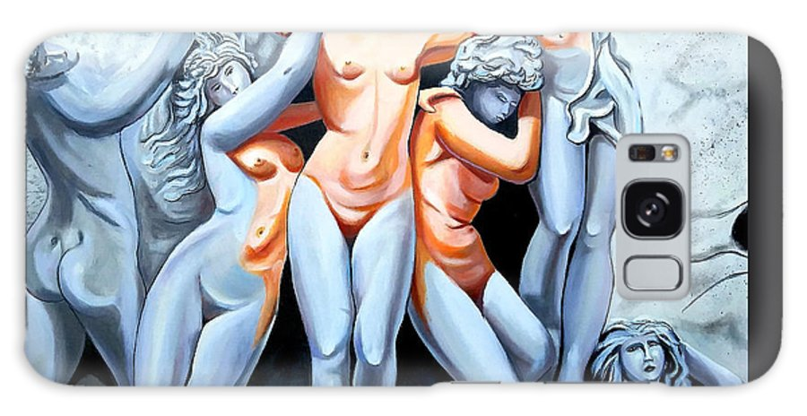 Statue Women Galaxy Case featuring the painting Statue 3 by Jose Manuel Abraham