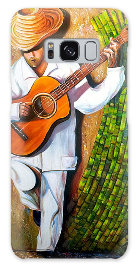Cuban Art Galaxy S8 Case featuring the painting Sugarcane Worker by Jose Manuel Abraham