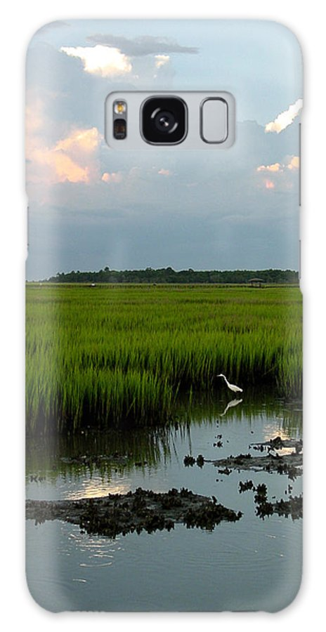 Egret Galaxy S8 Case featuring the photograph Summertime Marsh by Suzanne Gaff