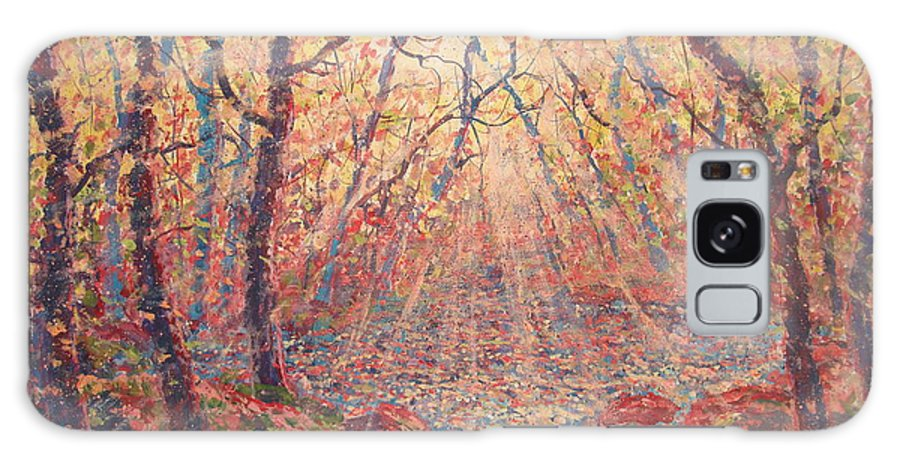 Painting Galaxy Case featuring the painting Sun Rays Through The Trees. by Leonard Holland