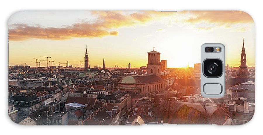 City Galaxy Case featuring the photograph Sunset above Copenhagen by Hannes Roeckel