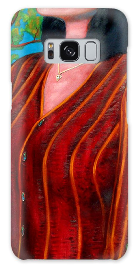 Figure Galaxy S8 Case featuring the painting Sweater Weather by T Ezell