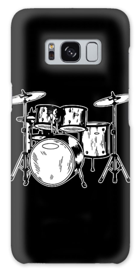 Drummer Galaxy Case featuring the digital art Tempo Music Band Percussion Drum Set Drummer Gift by Haselshirt