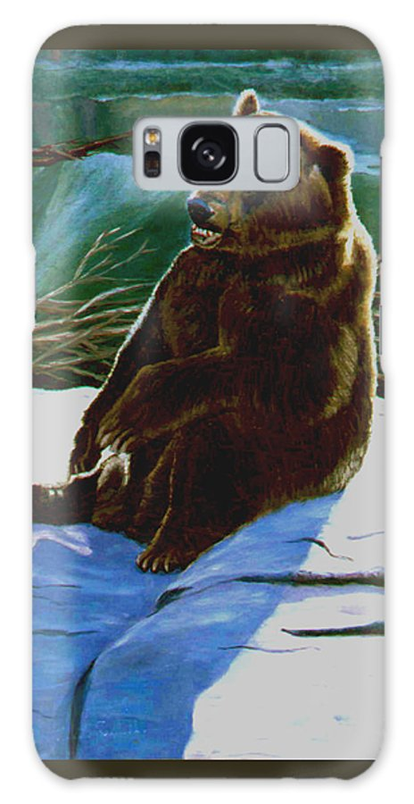 Original Oil On Canvas Galaxy S8 Case featuring the painting The Bear by Stan Hamilton