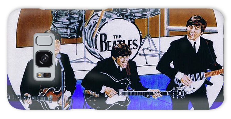 The Beatles Live Galaxy S8 Case featuring the drawing The Beatles - Live On The Ed Sullivan Show by Sean Connolly