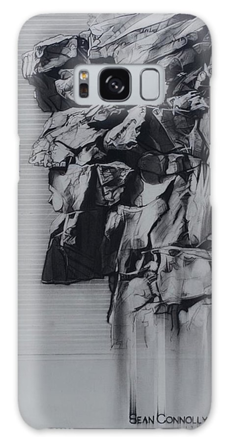 Charcoal On Paper Galaxy Case featuring the drawing The Old Man Of The Mountain by Sean Connolly