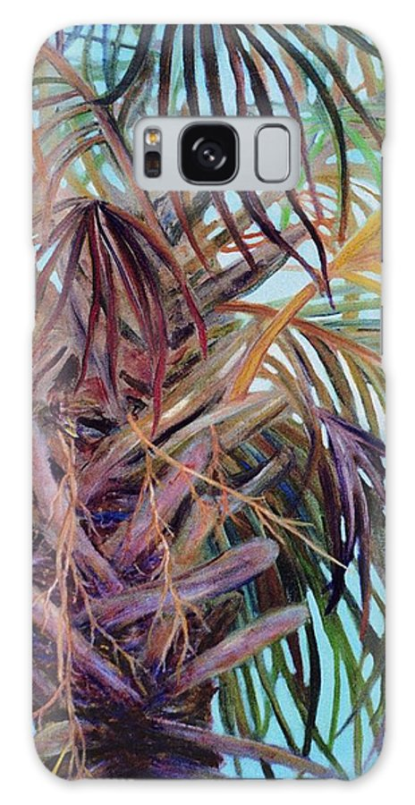 Palm Tree Galaxy S8 Case featuring the painting The Palm by Ben Kiger