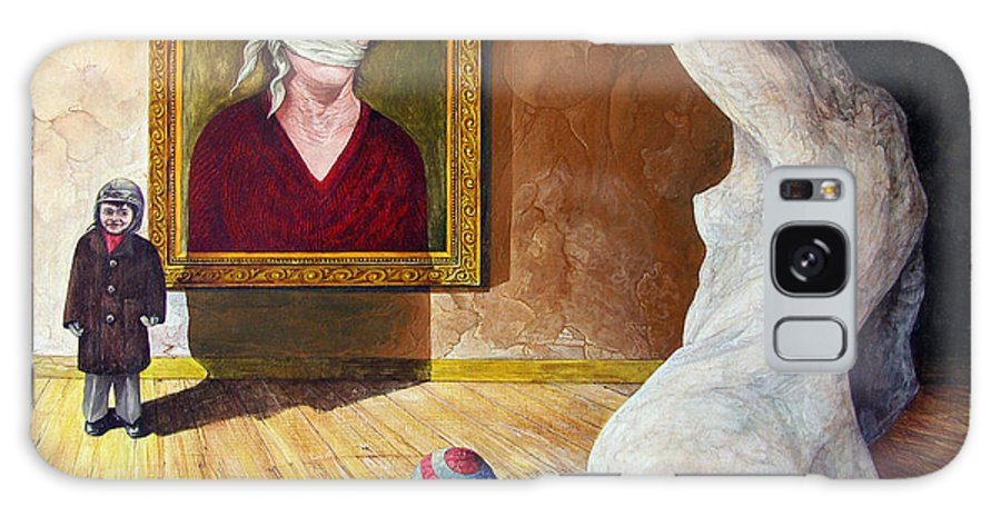 Surrealism Galaxy Case featuring the painting The Visitor by Otto Rapp
