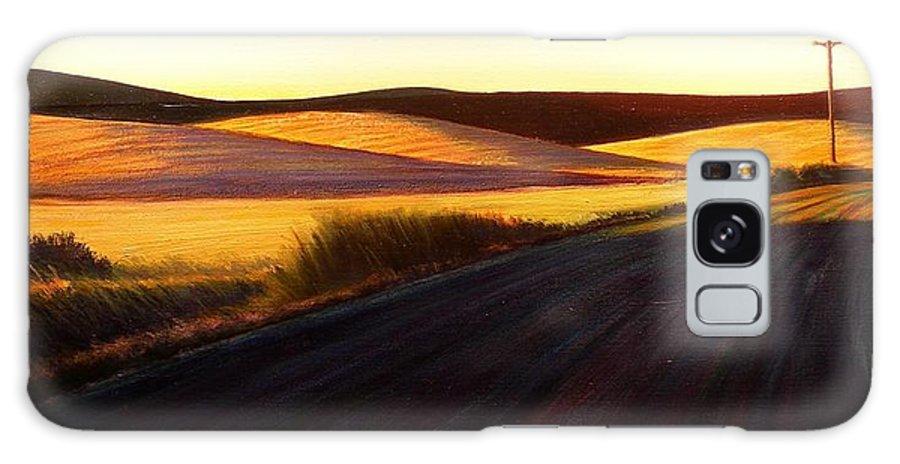Sunrise Galaxy S8 Case featuring the painting Three Sisters Morning Hills near Genesee Washington by Leonard Heid