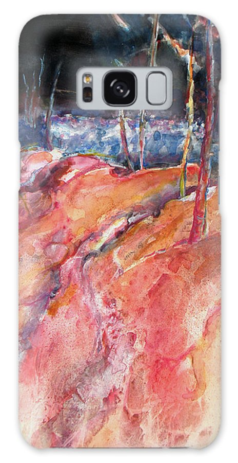 Trees Galaxy S8 Case featuring the painting Tree Line by Juanita Hagberg