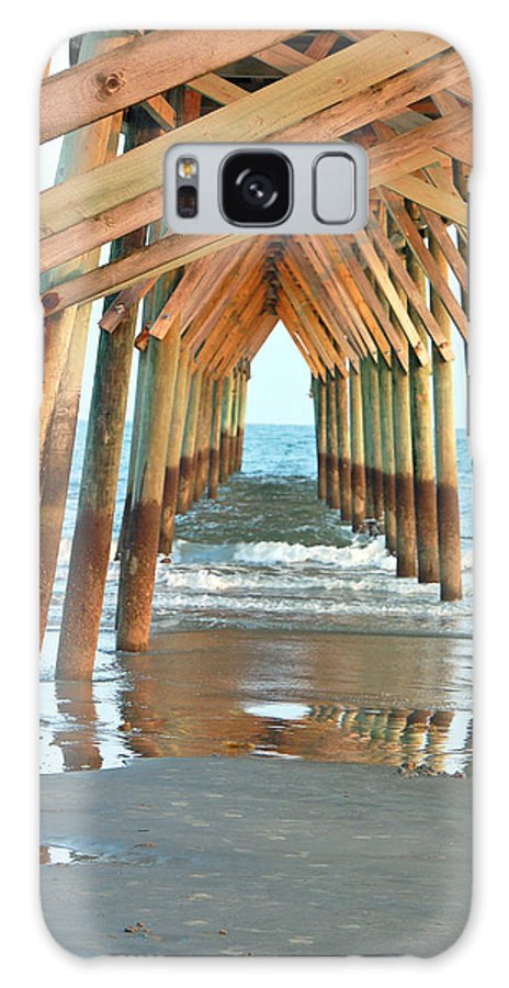 Boardwalk Galaxy S8 Case featuring the photograph Under the Boardwalk by Suzanne Gaff