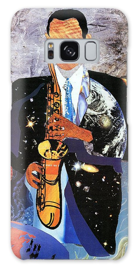 Everett Spruill Galaxy S8 Case featuring the painting Universal Sax by Everett Spruill