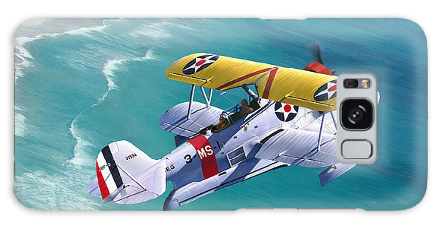 Aviation Galaxy S8 Case featuring the painting Unsung Hero - Grumman J2F Duck by Mark Karvon