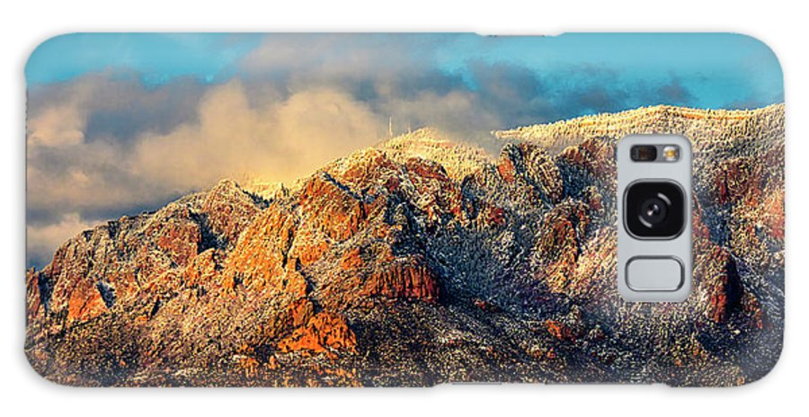 Albuquerque Galaxy Case featuring the photograph Unveiling Sandia Mountain and Crest by Zayne Diamond Photographic