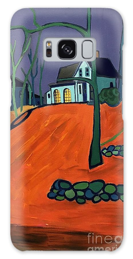 Houses On A Hill Galaxy S8 Case featuring the painting Up Above Dunstable by Debra Bretton Robinson