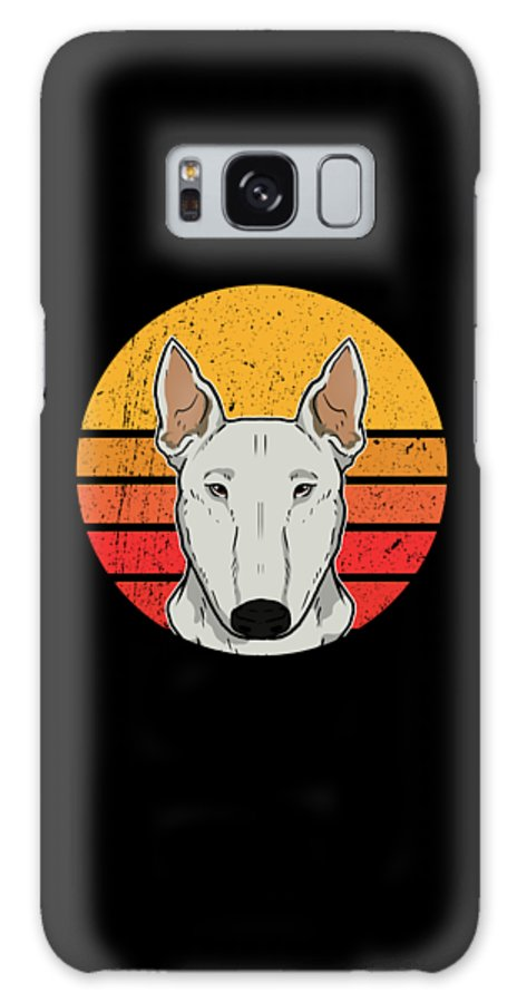 Bull Terrier Galaxy Case featuring the digital art Vintage Bull Terrier Puppy Dog Owner Gift by J M