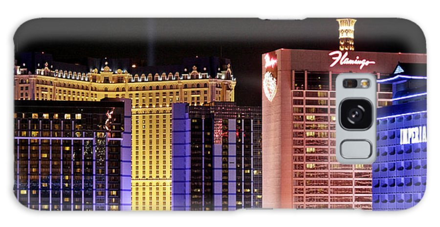 Night Galaxy S8 Case featuring the photograph Viva Las Vegas by Christine Till