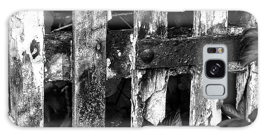 B/w Galaxy Case featuring the photograph Weathered Gate by Bear R Humphreys