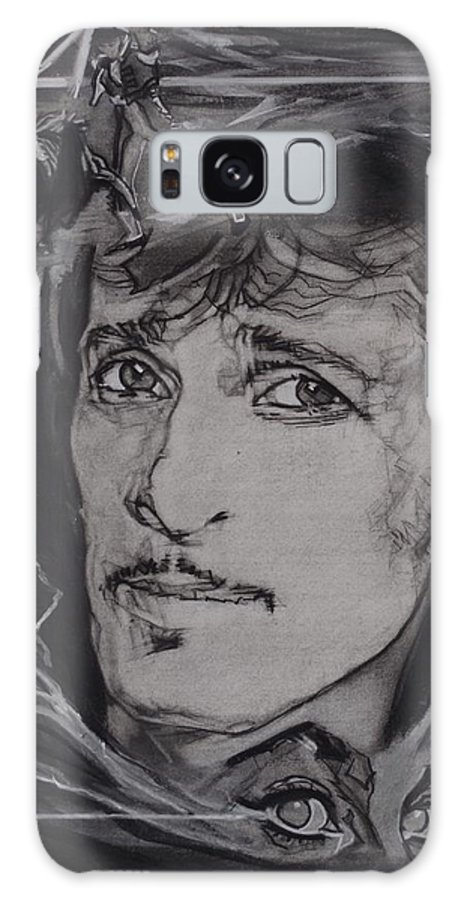 Charcoal On Paper Galaxy S8 Case featuring the drawing Willy DeVille - Coup de Grace by Sean Connolly