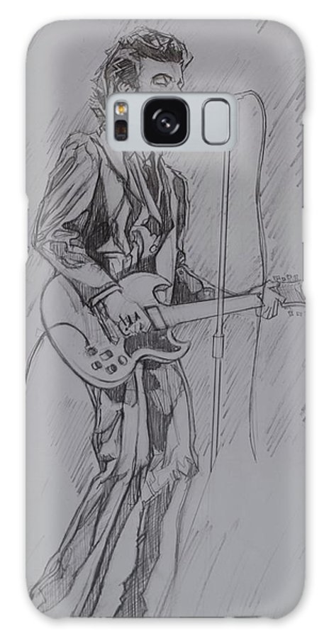 Pencil Galaxy S8 Case featuring the drawing Willy DeVille - Steady Drivin' Man by Sean Connolly