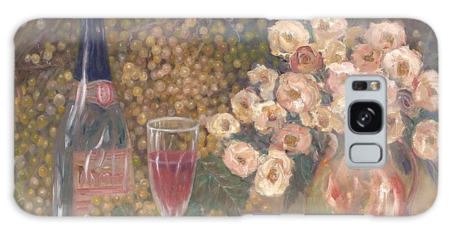 Stilllife; Floral; Wine Galaxy S8 Case featuring the painting Wine And Roses by Ben Kiger