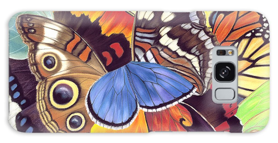 Butterflies Galaxy S8 Case featuring the painting Wings Of California by Lucy Arnold