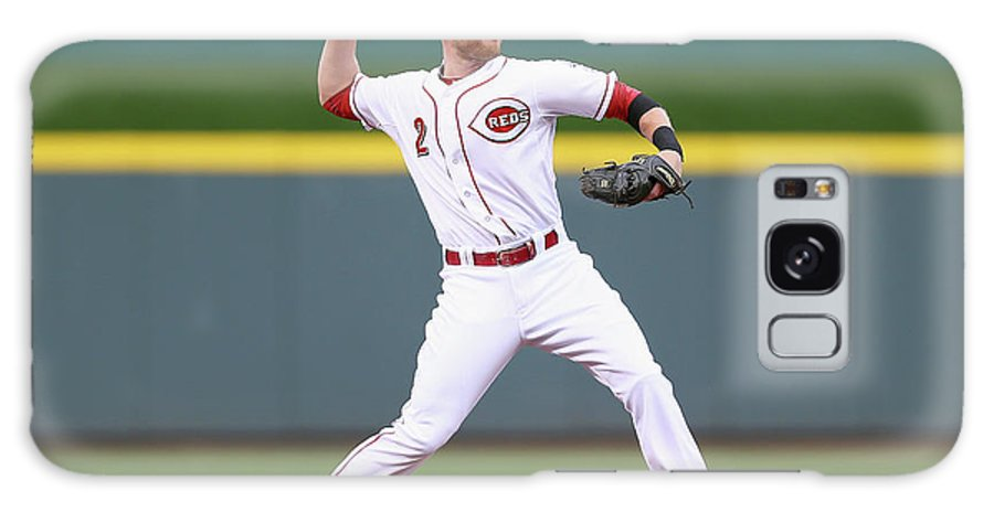 Great American Ball Park Galaxy Case featuring the photograph Zack Cozart by Andy Lyons