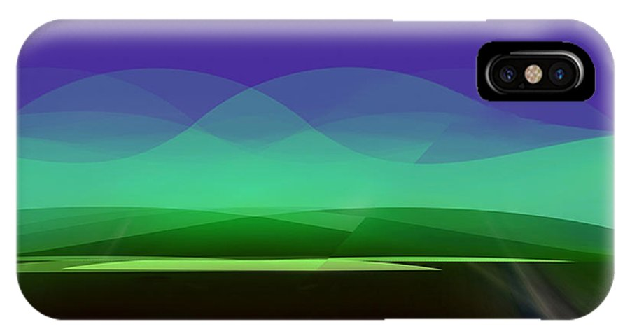 415 IPhone X / XS Case featuring the painting 415 - There Is Peace In The Valley by Irmgard Schoendorf Welch