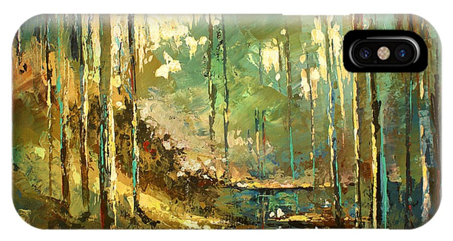 Landscape IPhone X Case featuring the painting 'Afternoon' by Michael Lang
