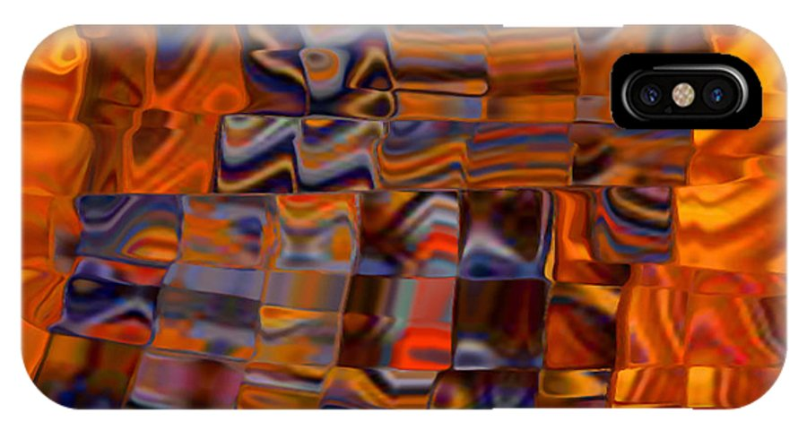 Digital Art Abstract Bit Of Patchwork IPhone X Case featuring the digital art Bit Of Patchwork by Gayle Price Thomas