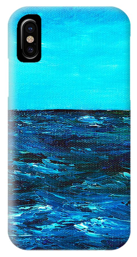 Gift IPhone X Case featuring the painting Body Of Water by Anastasiya Malakhova