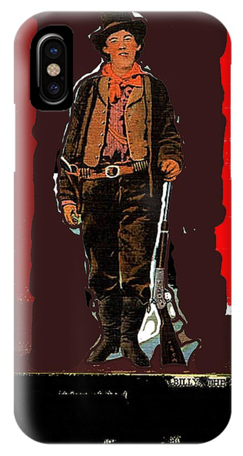 Bogus Drawing Photo Of Billy The Kid Ft. Sumner New Mexico C.1879-2013 IPhone X Case featuring the photograph Bogus Drawing Photo Of Billy The Kid Ft. Sumner New Mexico C.1879-2013 by David Lee Guss