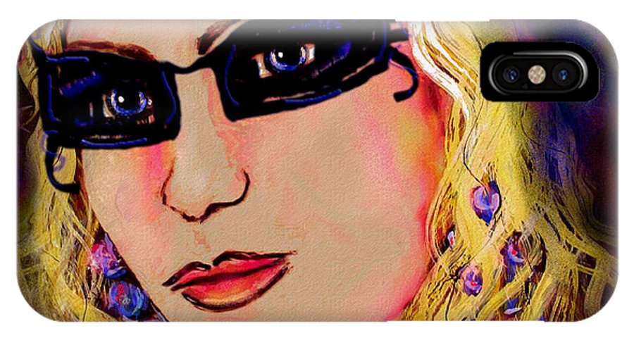 Portrait IPhone X Case featuring the mixed media Casablanca Girl by Natalie Holland