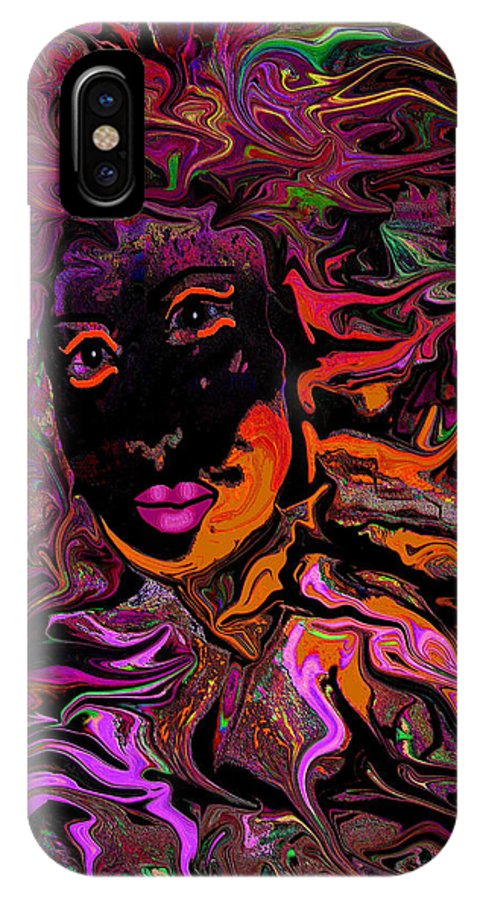 Woman IPhone X Case featuring the mixed media Desire On Fire by Natalie Holland