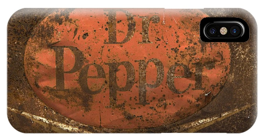 Dr Pepper Sign IPhone X Case featuring the photograph Dr Pepper Vintage Sign by Bob Christopher