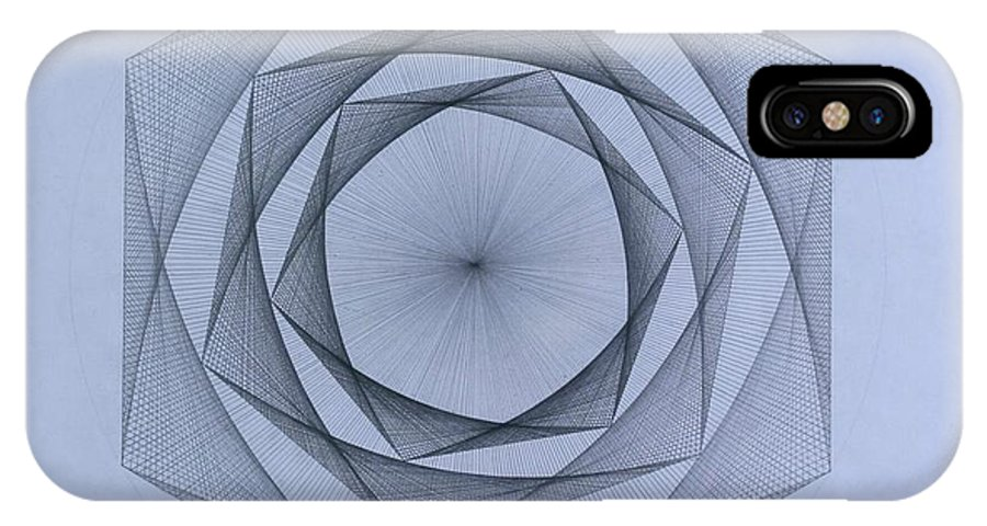 Jason Padgett IPhone Case featuring the drawing  Energy Spiral by Jason Padgett