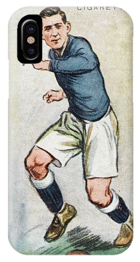 Keenor IPhone X Case featuring the drawing Fred Keenor, Player For Cardiff City by Mary Evans Picture Library