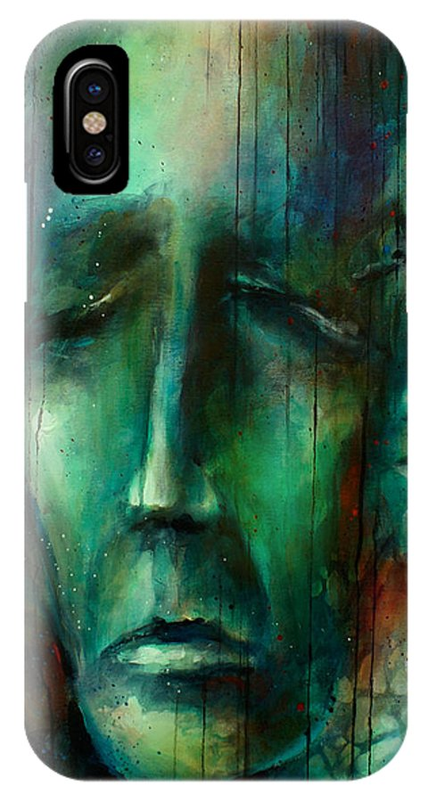 Figurative IPhone X Case featuring the painting ' Heros ' by Michael Lang