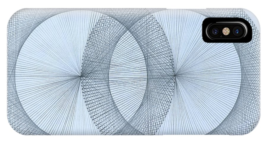 Fractal IPhone X Case featuring the drawing Magnetism by Jason Padgett