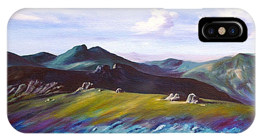 Irish IPhone X Case featuring the painting Mourne Mountains 1 by Anne Marie ODriscoll