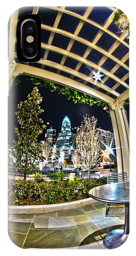 - Nightlife IPhone X Case featuring the photograph Nightlife Around Charlotte by Alex Grichenko