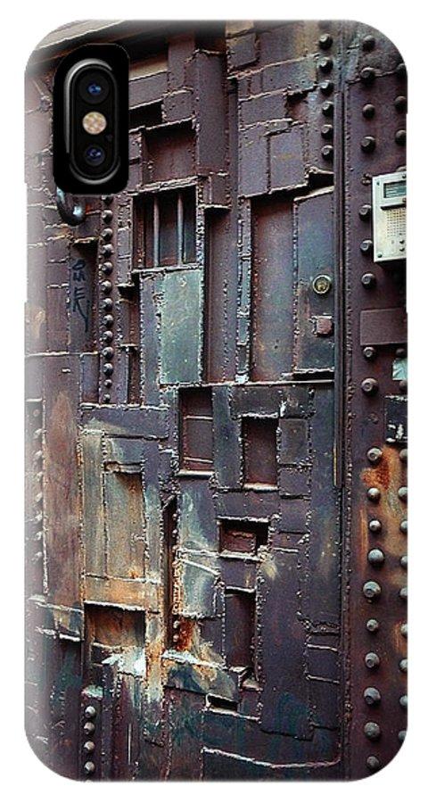 Door IPhone X Case featuring the photograph Nyc Designer's Dungeon Door by Xueling Zou
