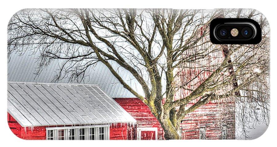 Barn IPhone X Case featuring the photograph Oak Valley Farm by Patti Raine