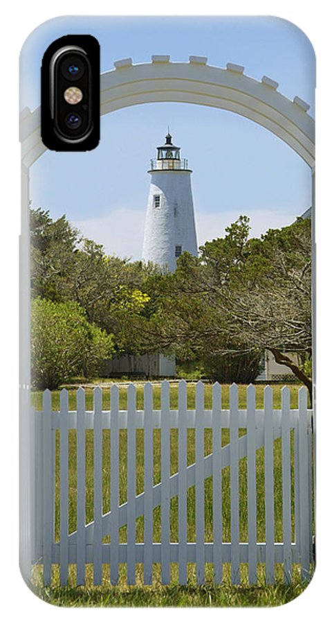 North Carolina IPhone X Case featuring the photograph Ocracoke Island Lighthouse by Mike McGlothlen