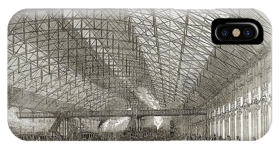 Birmingham IPhone X Case featuring the drawing Passengers Await Their Train by Illustrated London News Ltd/Mar